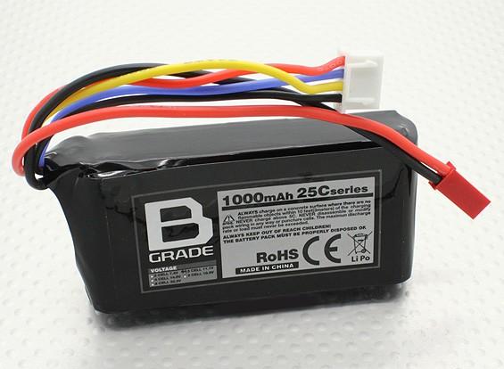 Batería B-Grado 1000mAh 3S 25C Lipo