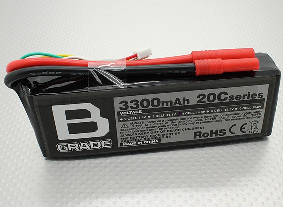 Batería B-Grado 3300mAh 20C Lipo 4S