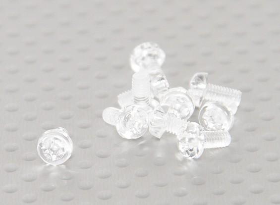 Tornillos de policarbonato transparentes M3x6mm - 10pcs / bag
