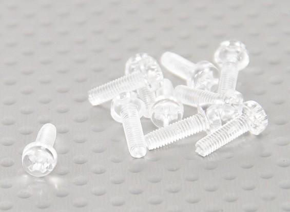 Tornillos de policarbonato transparentes M3x10mm - 10pcs / bag
