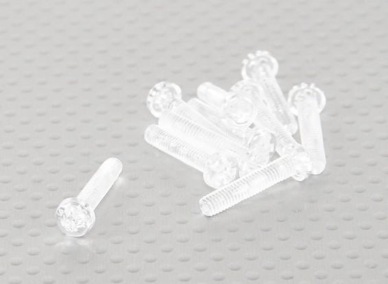 Tornillos de policarbonato transparentes M4x20mm - 10pcs / bag