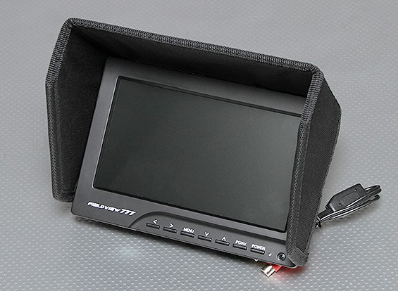 7 pulgadas de 800 x 480 TFT LCD FPV monitor con retroiluminación LED Fieldview 777
