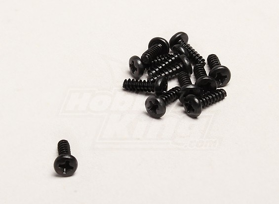 Autoperforantes Tornillo Cruz 3x10mm (12pcs / bag) - Turnigy Trailblazer 1/8, 1/5 XB y XT