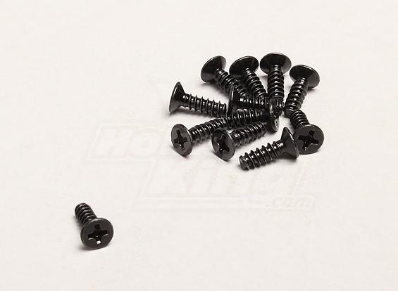 Autoperforantes Tornillo Cruz 3x10mm (12pcs / bag) - Turnigy Trailblazer 1/8