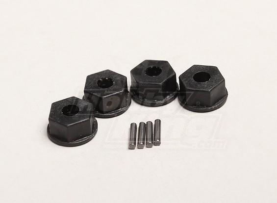 12mm hexagonal Hub w / pin (4pcs / bolsa) - Turnigy Trailblazer 1/8
