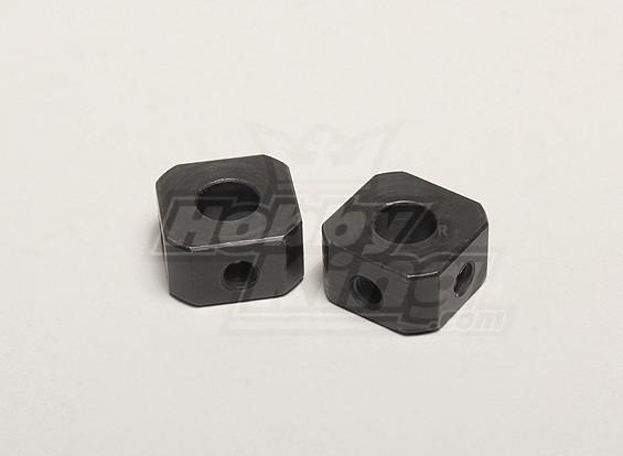 Conductor de ruedas corto Nutech (2pcs) - Twister Turnigy 1/5