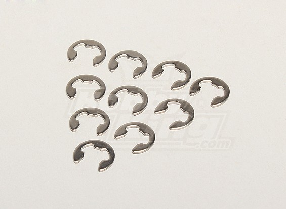E-Clip 6mm (10pcs / bag) - Twister Turnigy 1/5