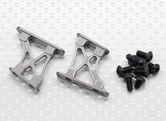 1/10 de aluminio CNC de extremo / ala de soporte del marco-Pequeño (titanio)