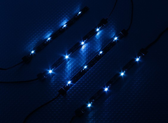 7 modo de sistema de iluminación del chasis del coche de RC (azul)