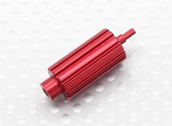 Asciende aluminio rodillo rueda de desplazamiento para Spektrum DX transmisores de la serie (rojo)