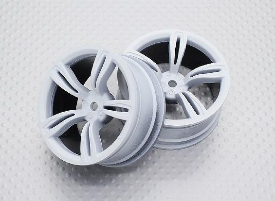 Escala 1:10 alta calidad Touring / deriva de las ruedas del coche RC de 12 mm Hex (2 piezas) CR-M5W