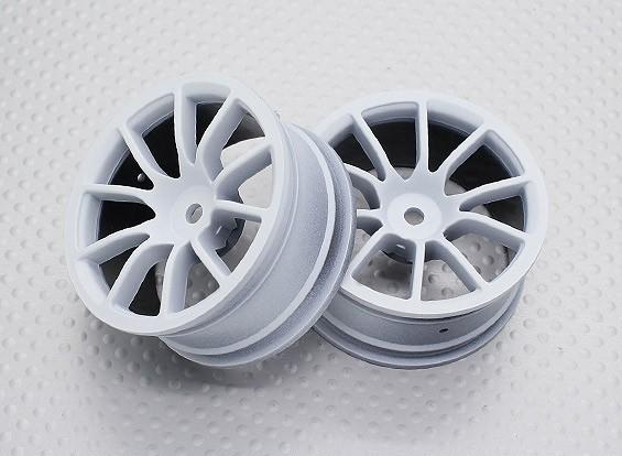 Escala 1:10 alta calidad Touring / deriva de las ruedas del coche RC de 12 mm Hex (2 piezas) CR-12CW