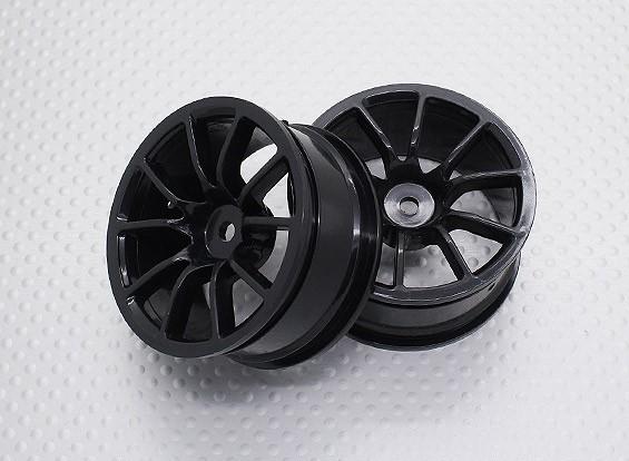 Escala 1:10 alta calidad Touring / deriva de las ruedas del coche RC de 12 mm Hex (2 piezas) CR-12CNB