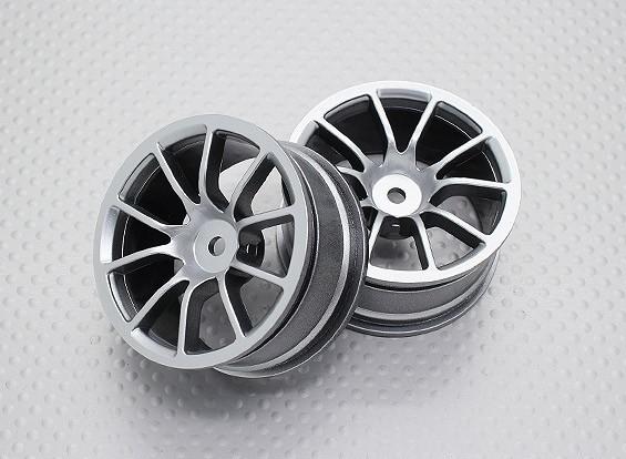 Escala 1:10 alta calidad Touring / deriva de las ruedas del coche RC de 12 mm Hex (2 piezas) CR-12CS