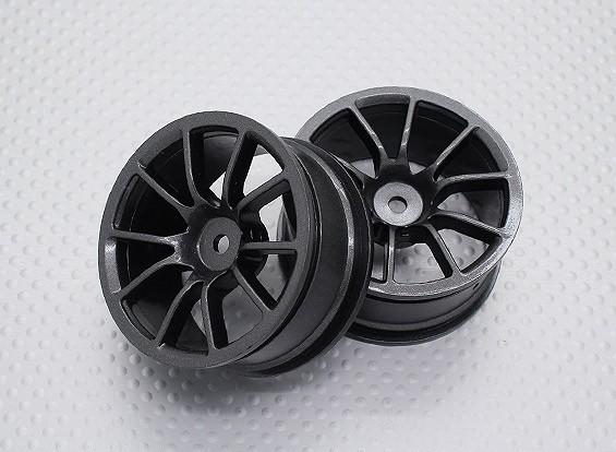 Escala 1:10 alta calidad Touring / deriva de las ruedas del coche RC de 12 mm Hex (2 piezas) CR-12M