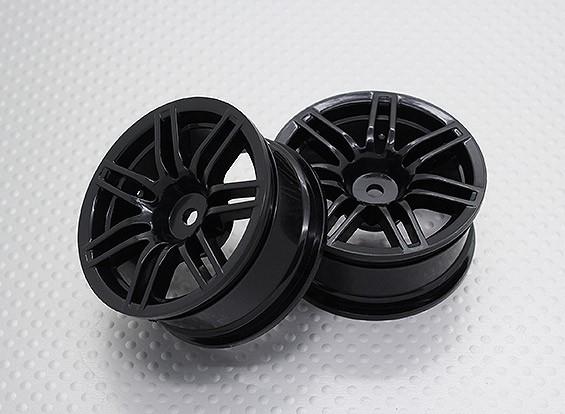 Escala 1:10 alta calidad Touring / deriva de las ruedas del coche RC de 12 mm Hex (2 piezas) CR-RS4NB