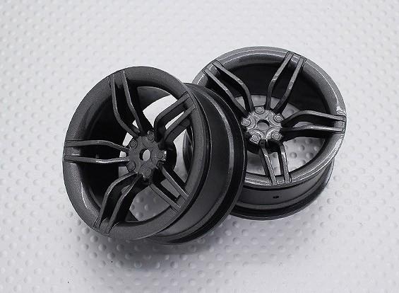 Escala 1:10 alta calidad Touring / deriva de las ruedas del coche RC de 12 mm Hex (2 piezas) CR-FFM