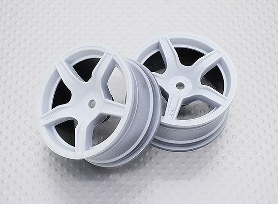 Escala 1:10 alta calidad Touring / deriva de las ruedas del coche RC de 12 mm Hex (2 piezas) CR-C63W