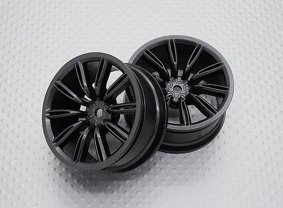 Escala 1:10 alta calidad Touring / deriva de las ruedas del coche RC de 12 mm Hex (2 piezas) CR-VIRAGEM
