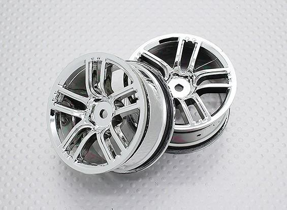 Escala 1:10 alta calidad Touring / deriva de las ruedas del coche RC de 12 mm Hex (2 piezas) CR-GTC