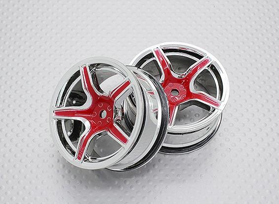 Escala 1:10 alta calidad Touring / deriva de las ruedas del coche RC de 12 mm Hex (2 piezas) CR-C63R