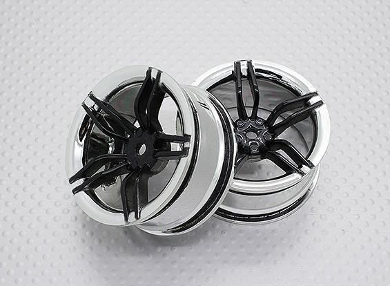 Escala 1:10 alta calidad Touring / deriva de las ruedas del coche RC de 12 mm Hex (2 piezas) CR-FFK