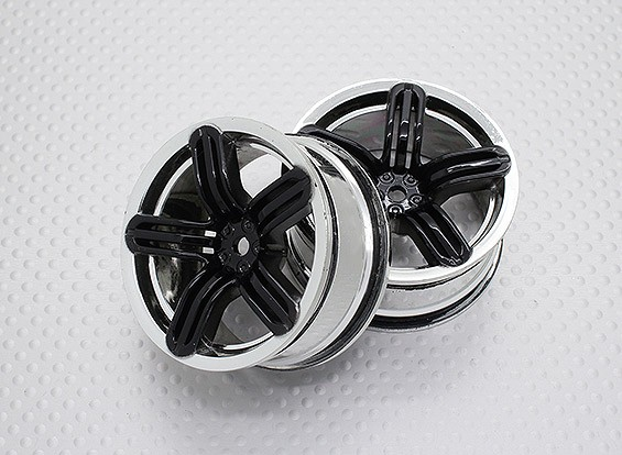 Escala 1:10 alta calidad Touring / deriva de las ruedas del coche RC de 12 mm Hex (2 piezas) CR-rs6k