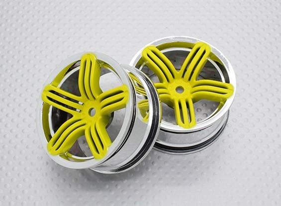 Escala 1:10 alta calidad Touring / deriva de las ruedas del coche RC de 12 mm Hex (2 piezas) CR-RS6Y