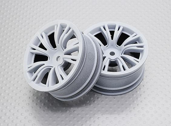 Escala 1:10 alta calidad Touring / deriva de las ruedas del coche RC de 12 mm Hex (2 piezas) CR-BRW