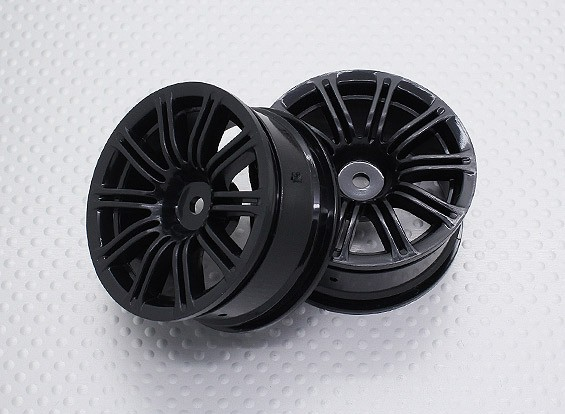 Escala 1:10 alta calidad Touring / deriva de las ruedas del coche RC de 12 mm Hex (2 piezas) CR-M3NB