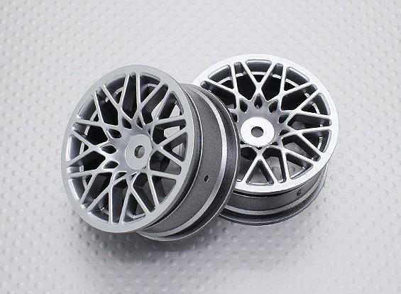 Escala 1:10 alta calidad Touring / deriva de las ruedas del coche RC de 12 mm Hex (2 piezas) CR-LBS