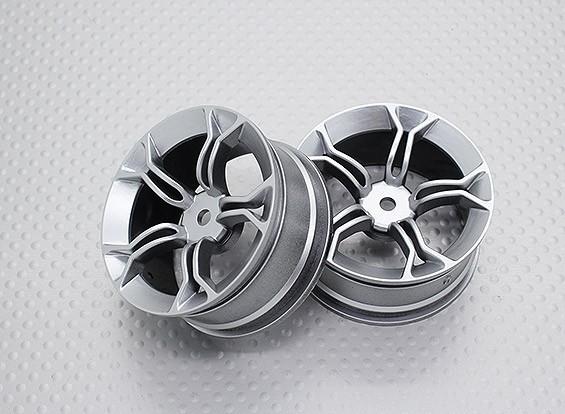 Escala 1:10 alta calidad Touring / deriva de las ruedas del coche RC de 12 mm Hex (2 piezas) CR-MP4S