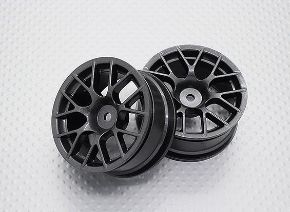 Escala 1:10 alta calidad Touring / deriva de las ruedas del coche RC de 12 mm Hex (2 piezas) CR-CHM