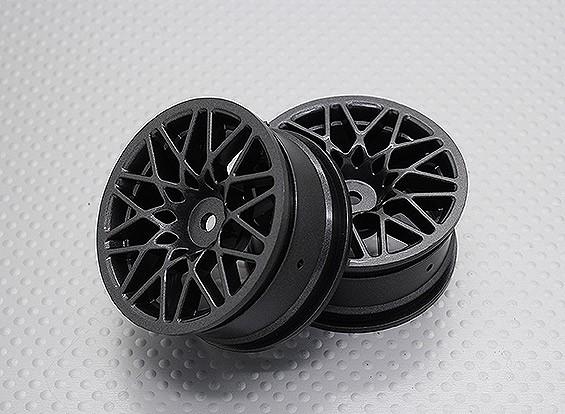 Escala 1:10 alta calidad Touring / deriva de las ruedas del coche RC de 12 mm Hex (2 piezas) CR-LBM
