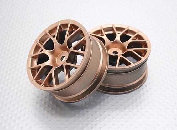 Escala 1:10 alta calidad Touring / deriva de las ruedas del coche RC de 12 mm Hex (2 piezas) CR-CHG