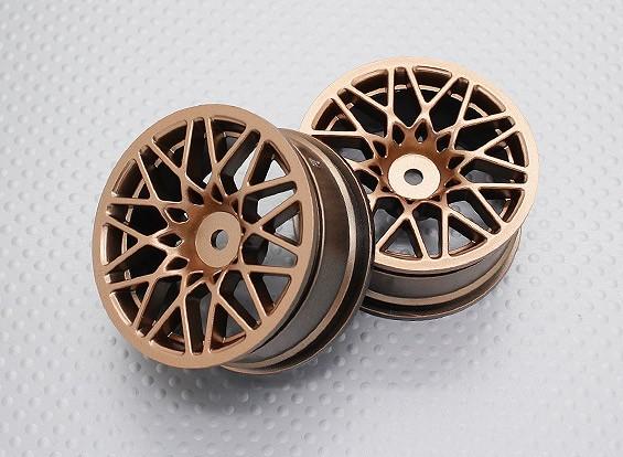 Escala 1:10 alta calidad Touring / deriva de las ruedas del coche RC de 12 mm Hex (2 piezas) CR-LBG