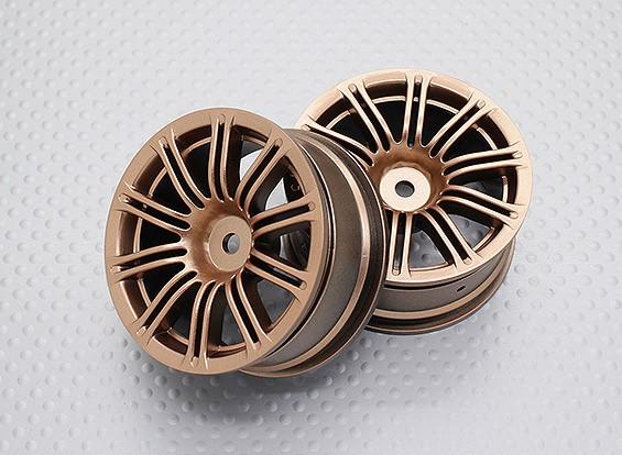 Escala 1:10 alta calidad Touring / deriva de las ruedas del coche RC de 12 mm Hex (2 piezas) CR-M3G