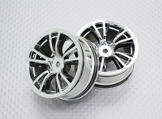 Escala 1:10 alta calidad Touring / deriva de las ruedas del coche RC de 12 mm Hex (2 piezas) CR-BRC