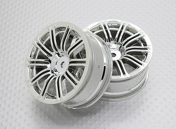 Escala 1:10 alta calidad Touring / deriva de las ruedas del coche RC de 12 mm Hex (2 piezas) CR-M3C
