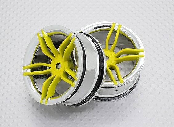 Escala 1:10 alta calidad Touring / deriva de las ruedas del coche RC de 12 mm Hex (2 piezas) CR-fiscal federal