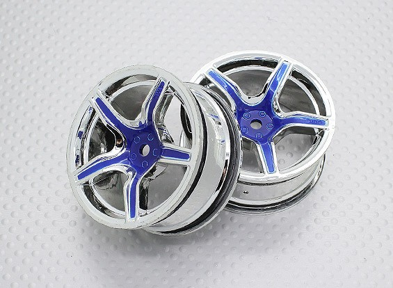 Escala 1:10 alta calidad Touring / deriva de las ruedas del coche RC de 12 mm Hex (2 piezas) CR-C63B