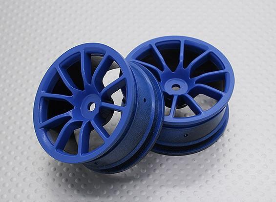 Escala 1:10 alta calidad Touring / deriva de las ruedas del coche RC de 12 mm Hex (2 piezas) CR-12CSB