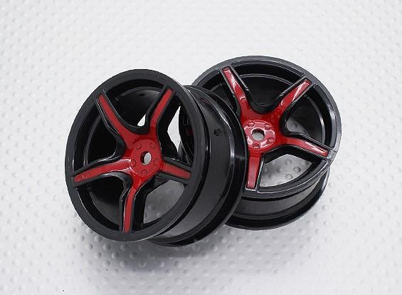 Escala 1:10 alta calidad Touring / deriva de las ruedas del coche RC de 12 mm Hex (2 piezas) CR-C63SR