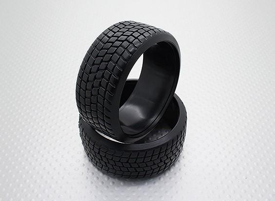 Escala 1:10 Compuesto de plástico duro CR-Square neumáticos de deriva (2 unidades)