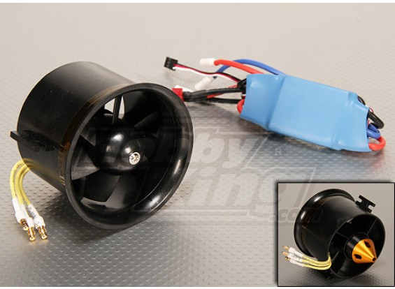 Sistema de HK EDF70 sin escobillas Potencia 2800kv y 45A ESC