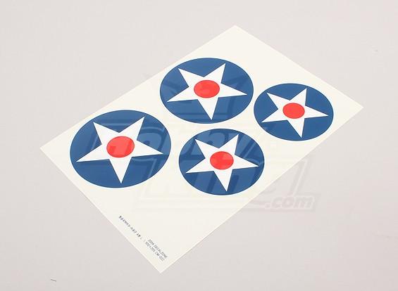 Escala de la hoja de la Fuerza Aérea Nacional insignias Decal - EE.UU. (Tipo A grande)