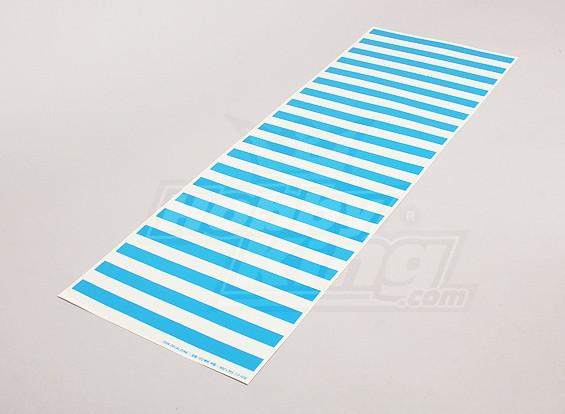 Hoja de etiqueta con el patrón de la raya azul / 590mmx200mm Claro
