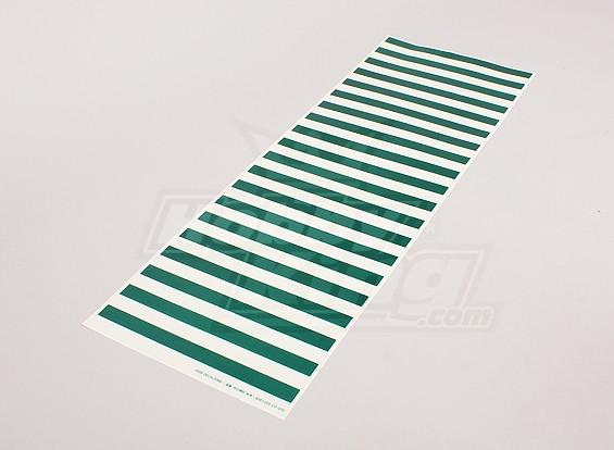 Etiqueta con el patrón Hoja verde de la raya / 590mmx200mm Claro