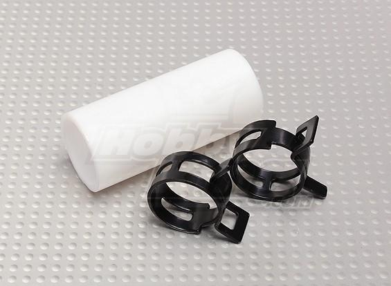 Acoplador de teflón con clips (22 mm) de tuberías para Silenciador