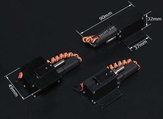 Turnigy Full Metal Servoless 90 grados retrae w / Asamblea de nariz orientable (pin 6 mm)